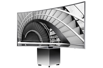 Eine Frage der Perspektive - Dank des elektrisch verstellbaren Drehfußes können Zuschauer den SUHD TV UE82S9W nach ihrer bevorzugten Sitzposition ausrichten