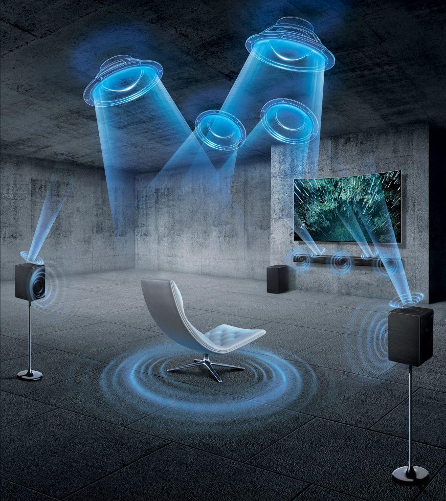 samsung hw k950 kinosound im wohnzimmer samsung germany newsroom. Black Bedroom Furniture Sets. Home Design Ideas