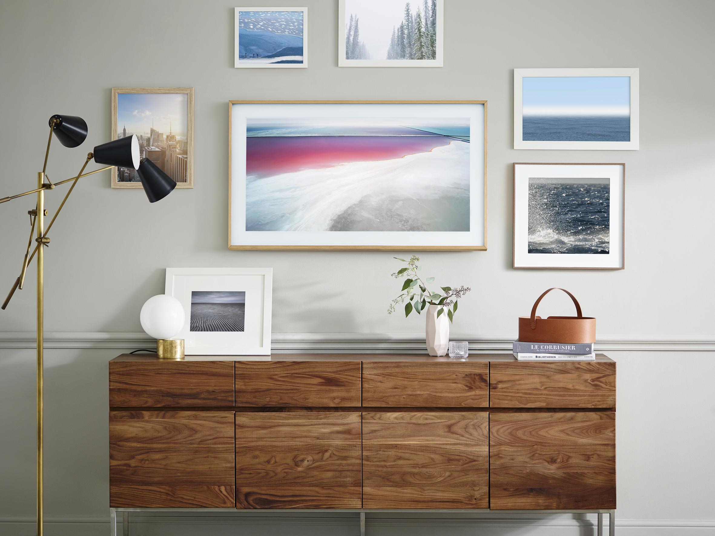 flachbildfernseher wand hangen rahmen, wenn der tv zum kunstwerk wird: the frame von samsung im handel, Design ideen