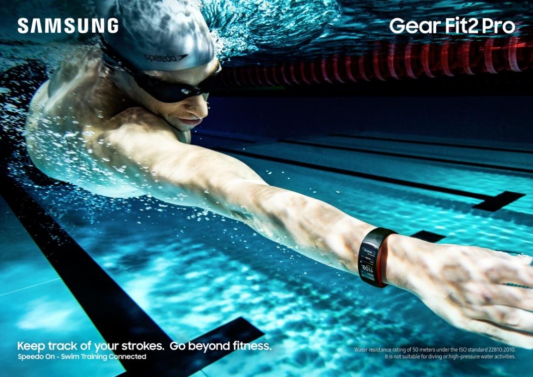 Samsung Gear Fit2 Pro in Kooperation mit Speedo