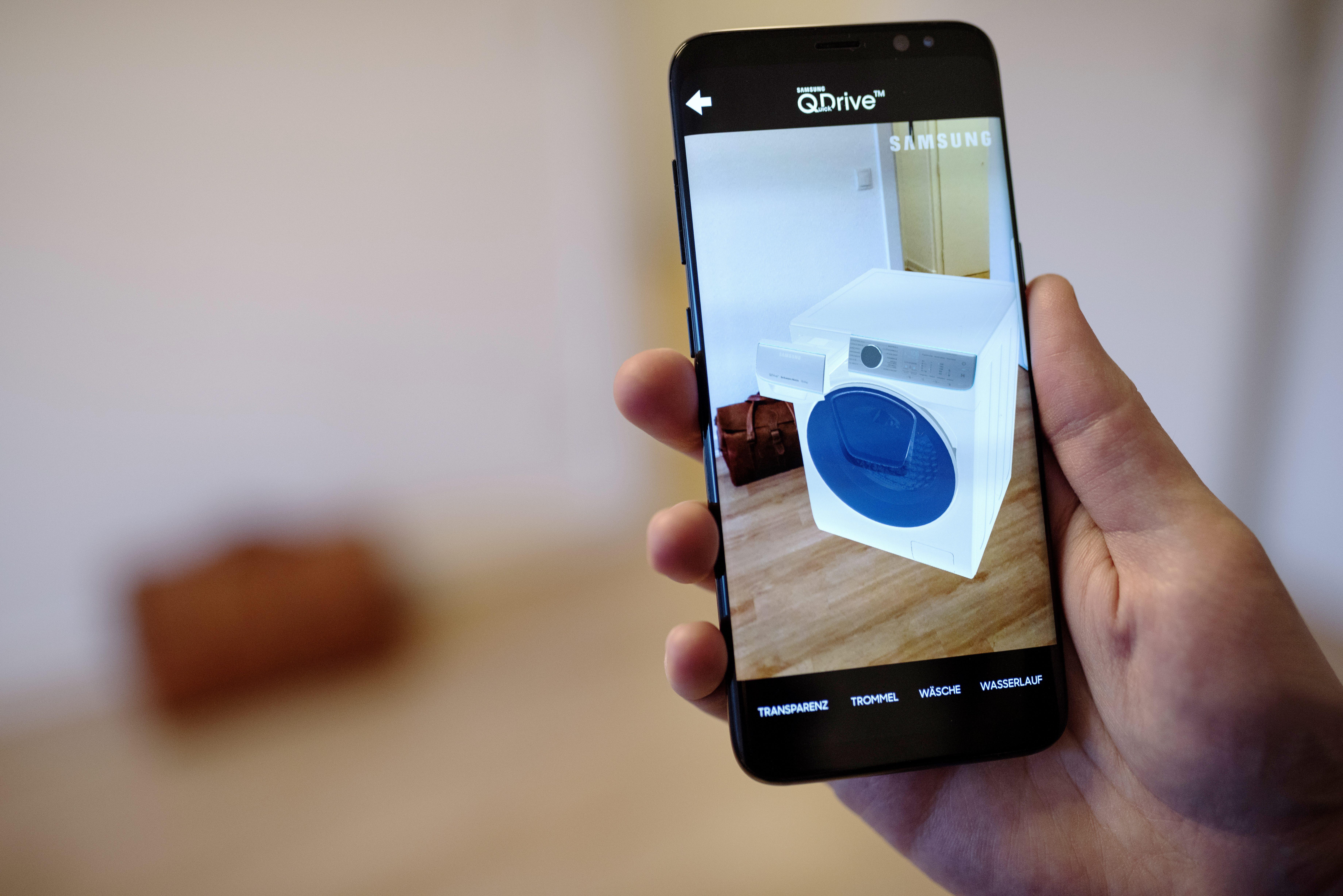 samsung integriert augmented reality in trainingsma nahmen. Black Bedroom Furniture Sets. Home Design Ideas