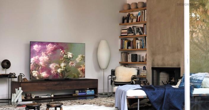 Design Im Mittelpunkt Der Samsung Qled Tv 2018 Samsung Newsroom