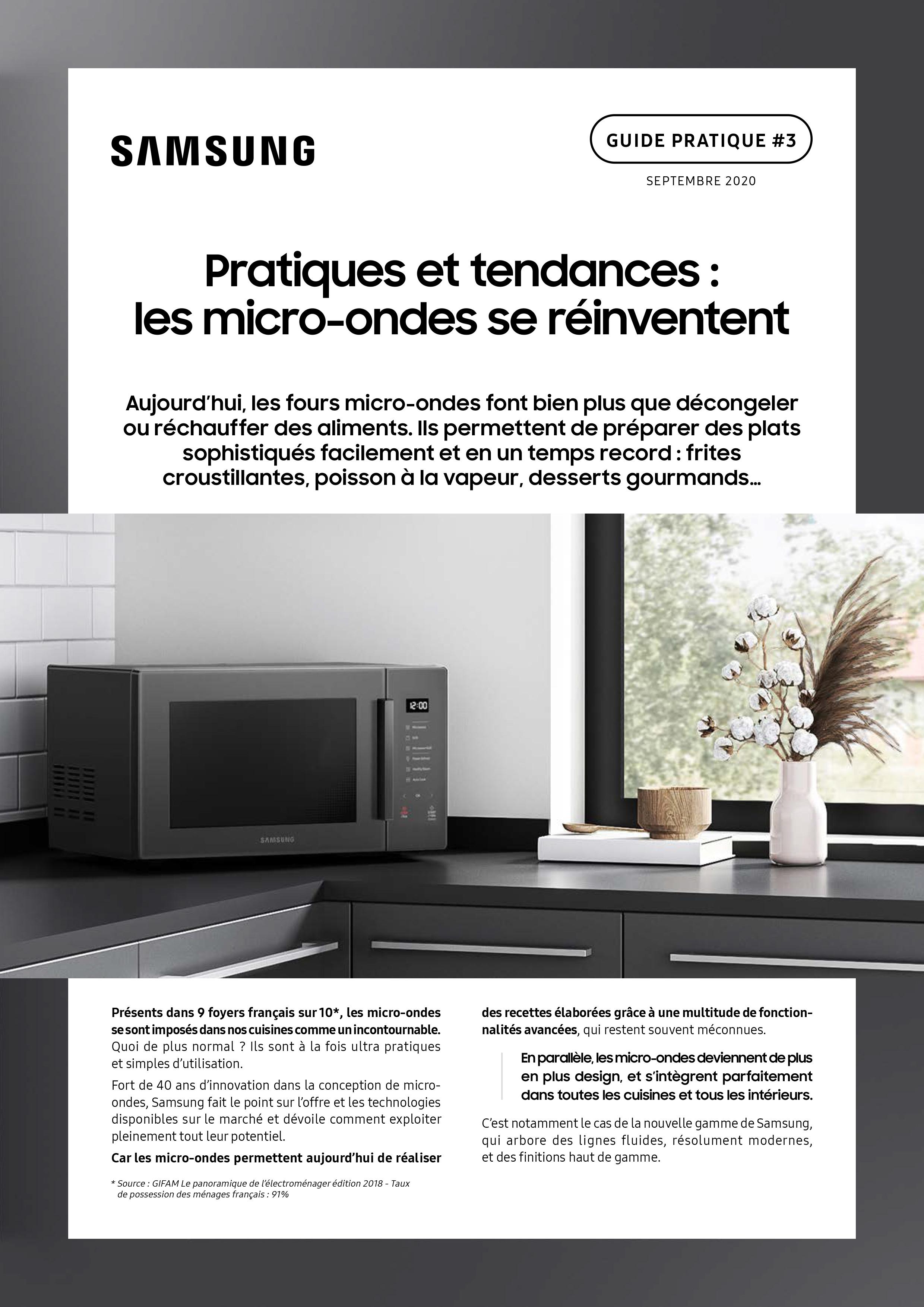 Guide pratique Samsung micro-ondes-1