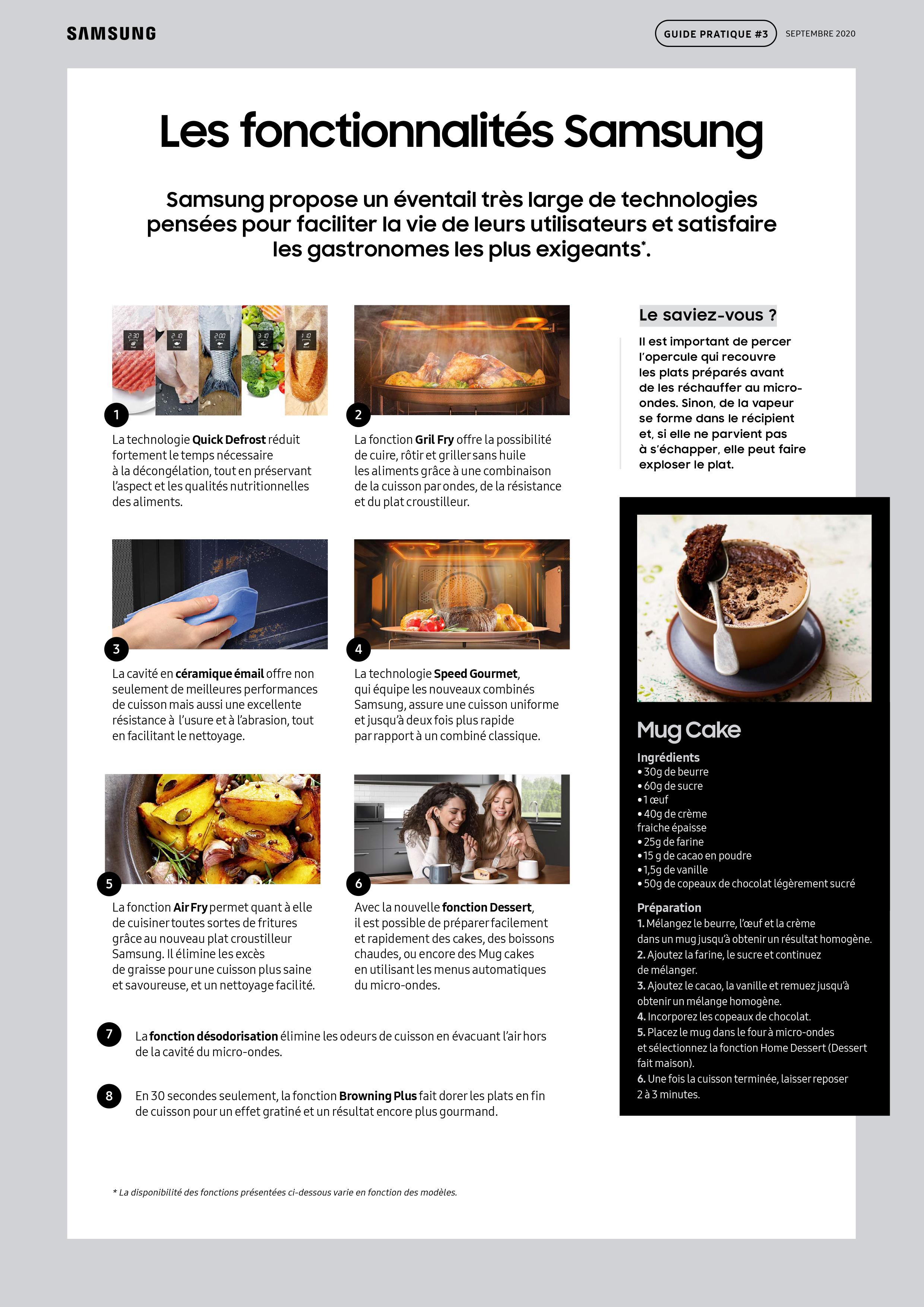 Guide pratique Samsung micro-ondes-5