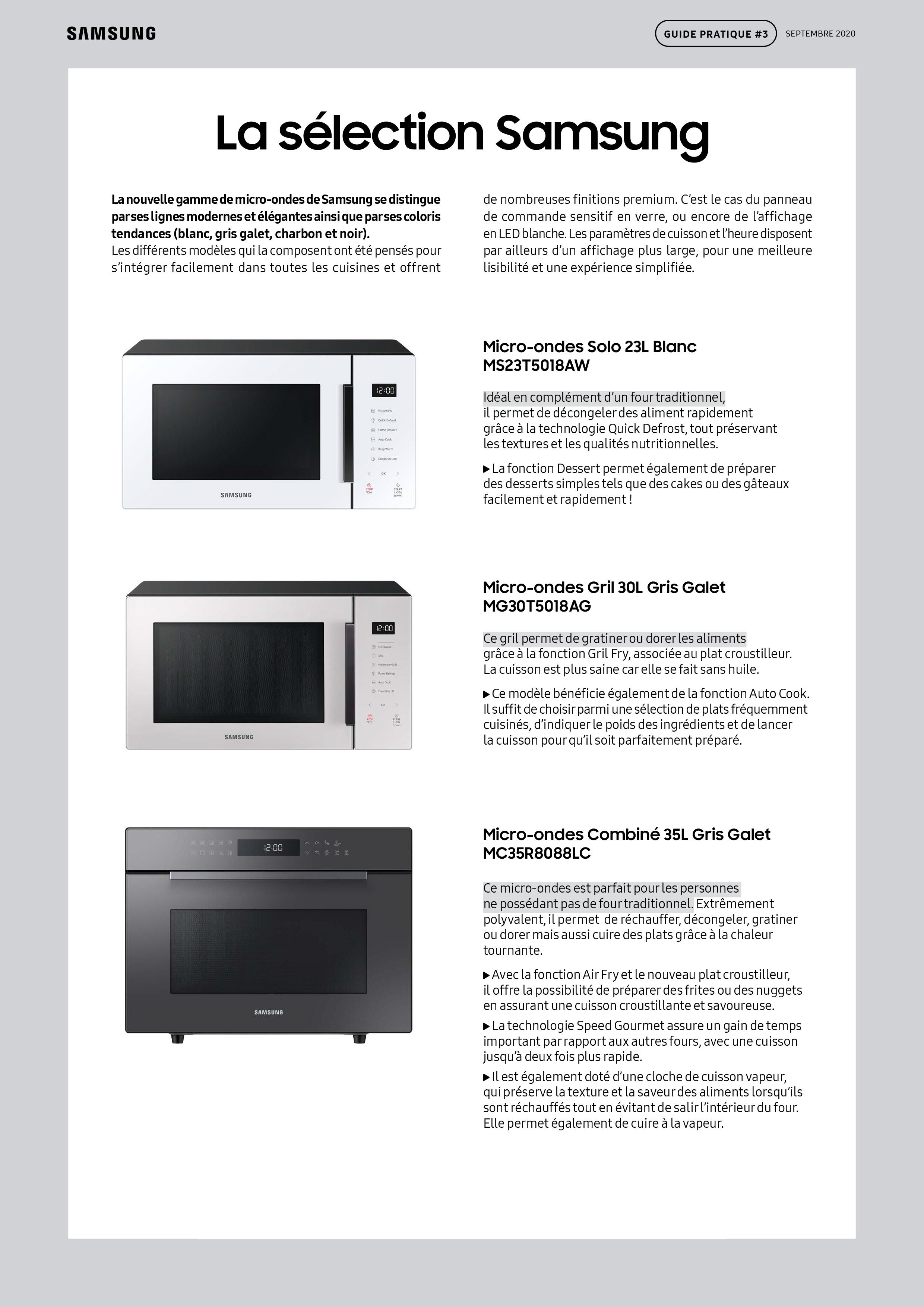 Guide pratique Samsung micro-ondes-6