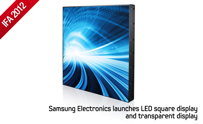 Samsung Commercial Displays >> Samsung Electronics launches LED square display and ...
