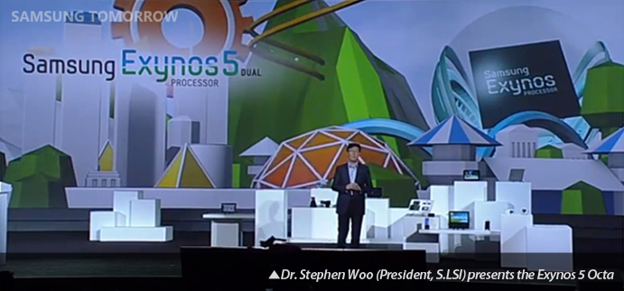 Dr. Stephen Woo (President, S.LSI) presents the Exynos 5 Octa