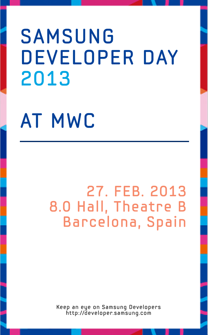 samsung developer day at MWC 2013