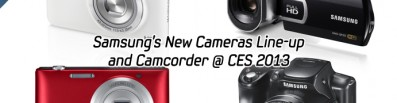 Samsung's New Cameras Line-up and Camcorder @ CES 2013