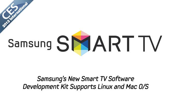 Samsung's New Smart TV Software Development Kit Supports