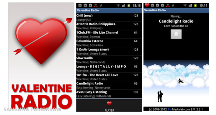 samsung valentine radio