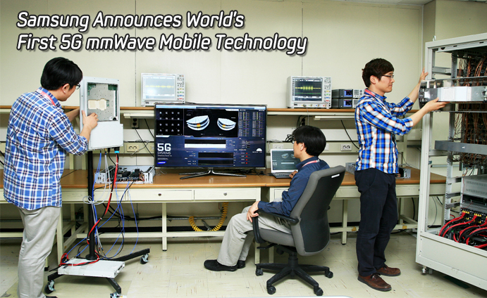 Samsung Announces World's First 5G mmWave Mobile Technology