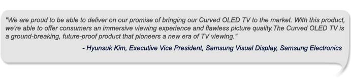 Hyunsuk Kim, Executive Vice President, Samsung Visual Display_Quote