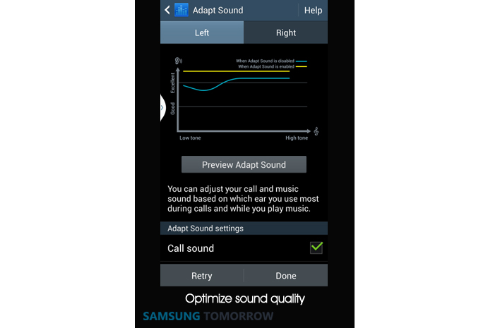 6. Adapt Sound optimizes sound quality