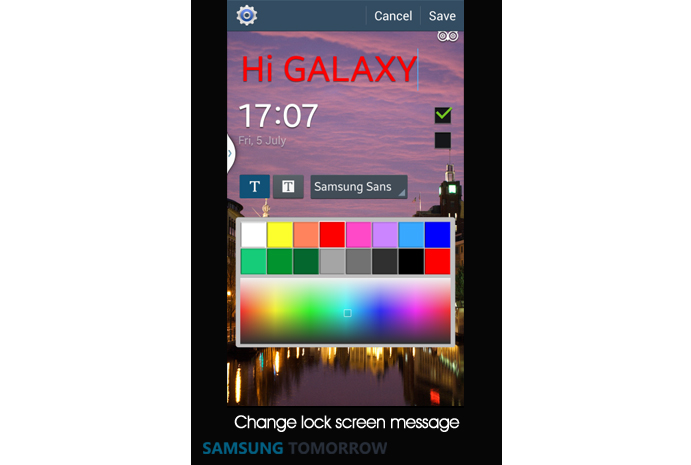 10. Change lock screen message