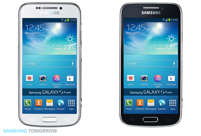 GALAXY S4 zoom LTE the Front look