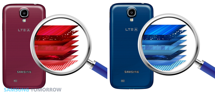 GALAXY S4 LTE-A Red Aura Blue Arctic