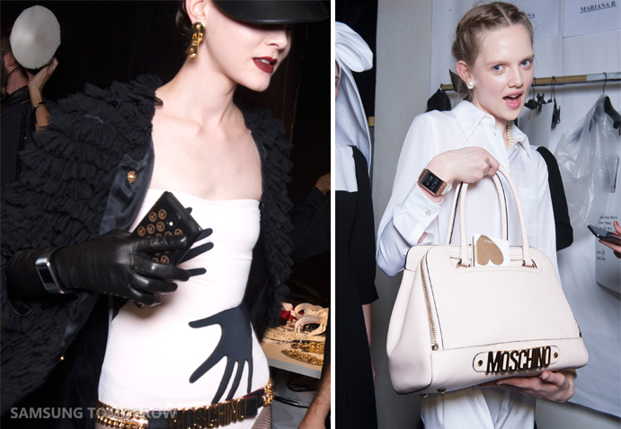 Samsung GALAXY Note 3 and GALAXY Gear will be presented as part of MOSCHINO's 2014 Spring/Summer runway