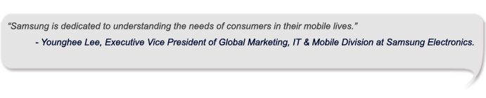 Younghee Lee, Executive Vice President of Global Marketing, IT & Mobile Division at Samsung Electronics.
