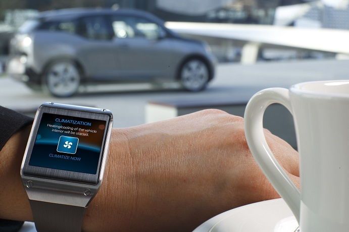 Galaxy Gear and BMW i3