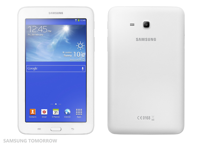Galaxy Tab3 Lite front and back