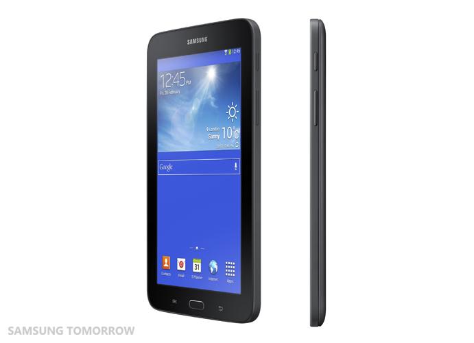 Galaxy Tab3 Lite side view black