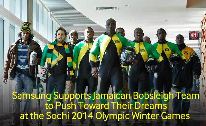 Samsung Supports Jamaican Bobsleigh Team To Push Toward Their Dreams At The Sochi 2014 Olympic Winter Games Samsung Global Newsroom
