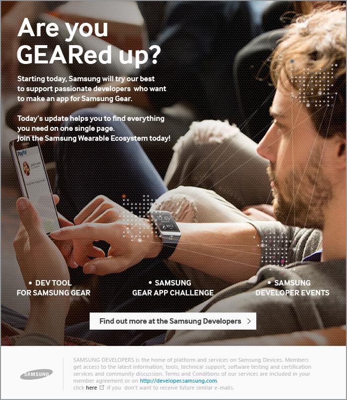 """""""Samsung Gear App Challenge,"""