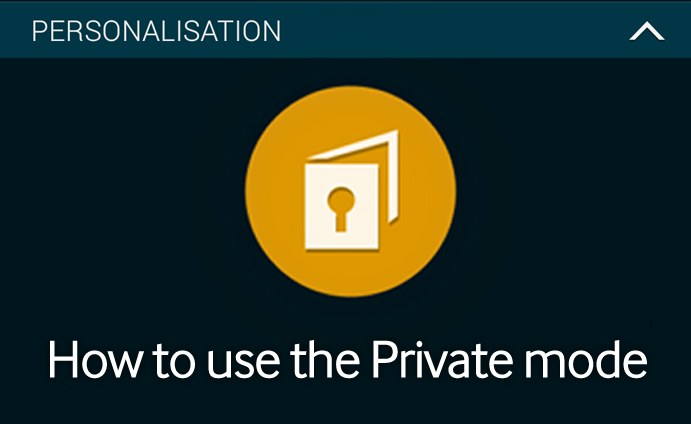 how to change the private setting on a samsung