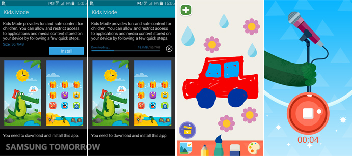 Downloading Kids Mode on Galaxy S5 and some features