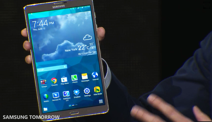 Galaxy Tab S Product Shot