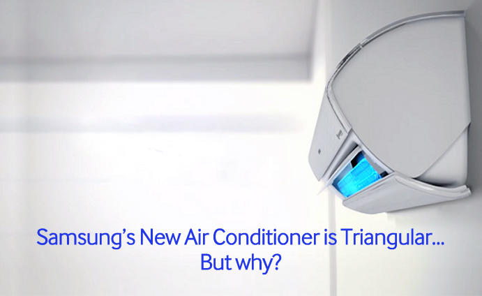 newest air conditioners. samsung\u0027s new air conditioner is triangular\u2026 but why? \u2013 samsung global newsroom newest conditioners