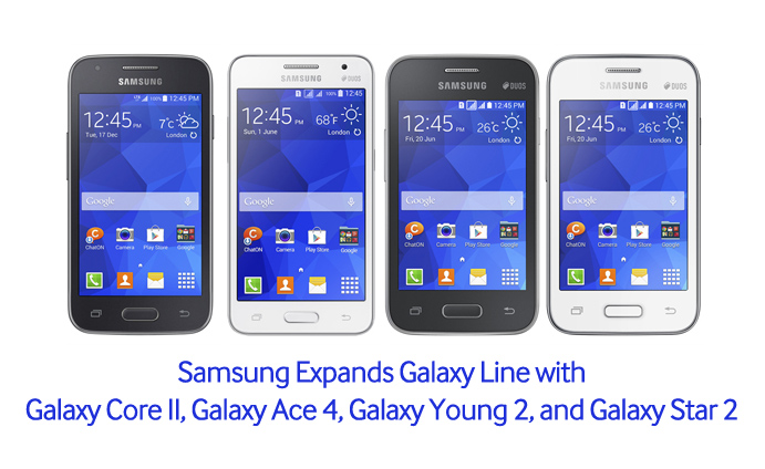 Samsung Expands Galaxy Line With Galaxy Core Ii Galaxy Ace 4