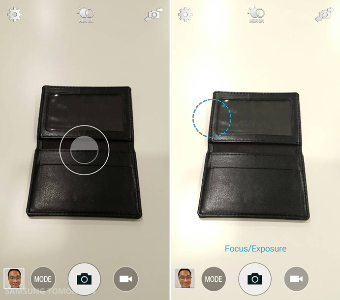 Application of the AF/AE adjustment of Galaxy Note 4