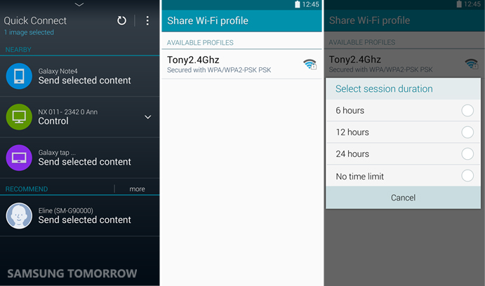 Wi-Fi sharing of Galaxy Note 4-1
