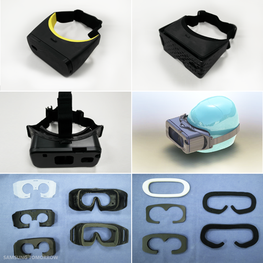 Prototypes of the Gear VR (2014)