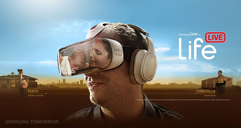 World-first live streaming virtual reality birth using Samsung Gear VR