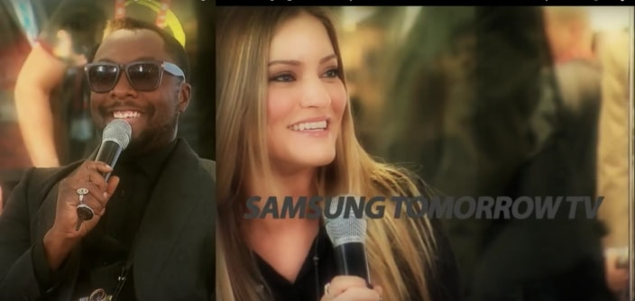 Celebrities heating up Samsung Smart Lounge @ CES2013 (Will.i.am, Russell Simmons, Xzibit etc.)