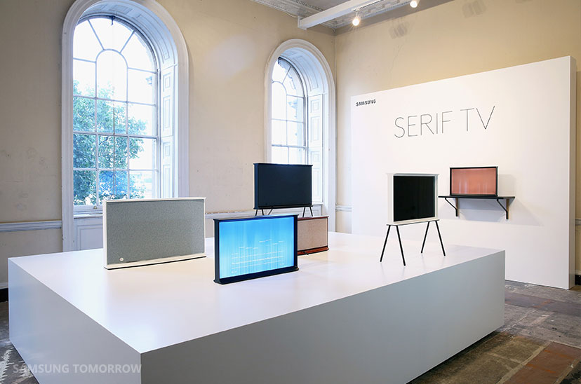 Samsung Serif Tv Redefines Tv Design Thanks To Collaboration With Bouroullec Brothers on samsung tv connectors