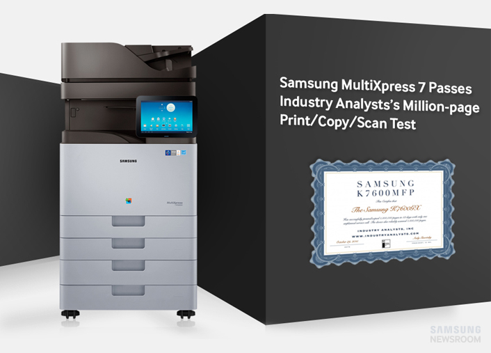 Industry Analysts, Inc. Completes Million Page Print Test of Samsung MX7 Series