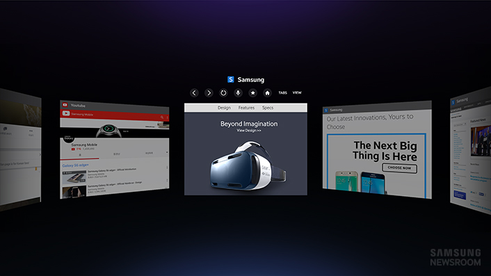 Samsung Launches Optimized Web Browser for Gear VR