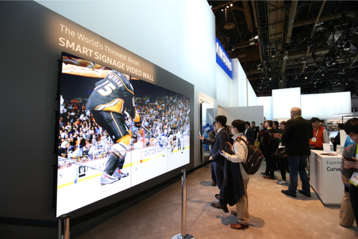 Samsung Showcases World'S Thinnest-Bezel Video Wall, Latest