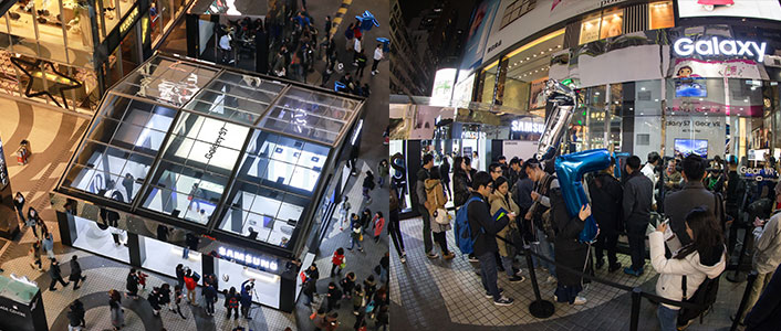 This Galaxy Studio location in Causeway Bay, Hong Kong, was busy with customers eager to check out the next Galaxy devices.