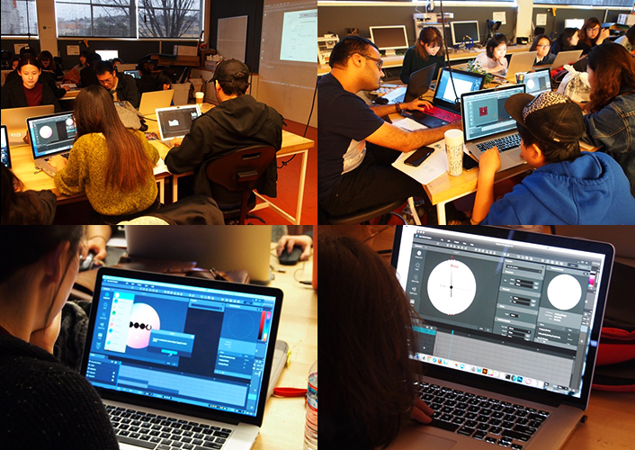 Design students at the California College of Arts, UCLA participate in a Gear Watch Designer workshop.