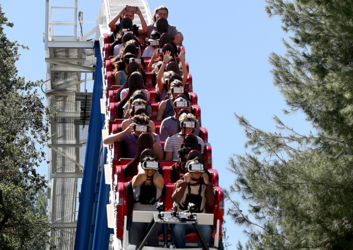 """""""Samsung And Six Flags Debut The First Virtual Reality Coaster Powered By Samsung Gear VR At Six Flags Magic Mountain"""""""