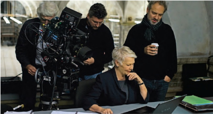 Roger Deakins, a famous cinematographer (left), working with an ARRI camera in the making of the James Bond thriller Skyfall. (Photo from the ARRI Group)