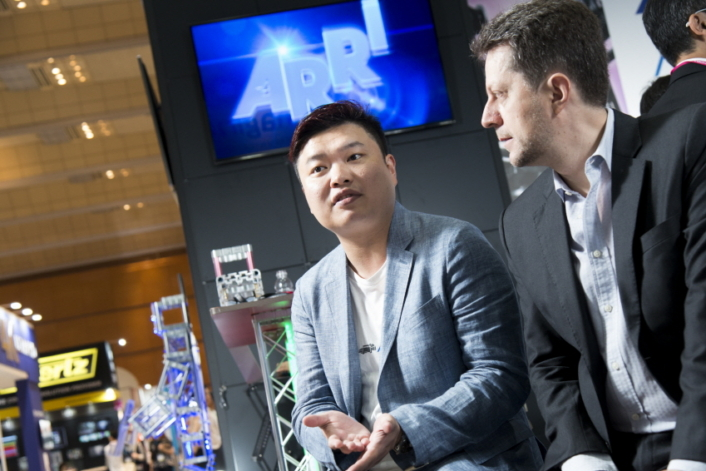 """Carlos Chu (left), Sales Manager, ARRI Asia, said that he expects """"with the increasing number of HDR video contents, consumer interest in HDR display will rise as well."""""""