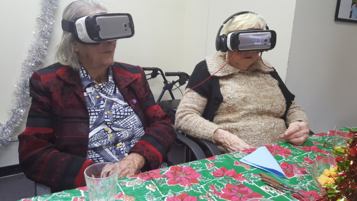 The Gear VR lets the residents of Greenwood Cottage get out and experience the world, such as seeing elephants and skiing