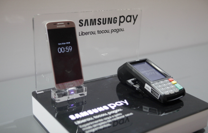 Samsung Electronics announced the launch of Samsung pay in the Ibirapuera Auditorium, Sao Paulo, Brazil.