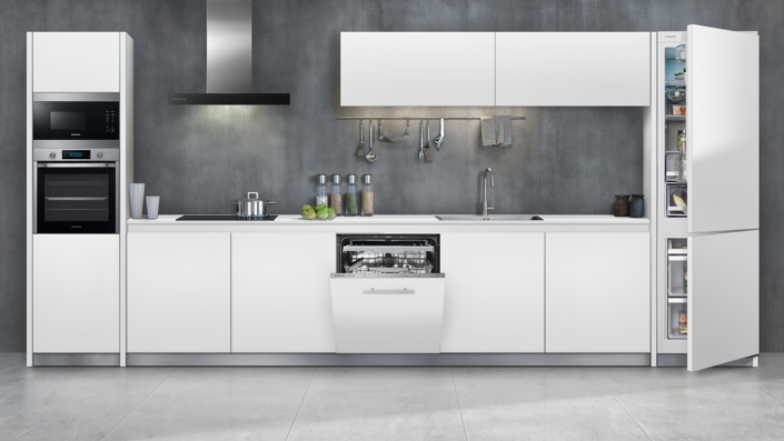 Samsung unveils three new built in kitchen appliance for Built in kitchen cupboards for a small kitchen